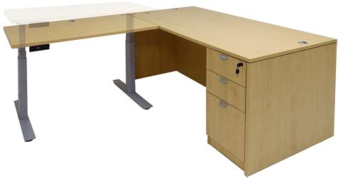 adjustable height executive desk electric lift height adjustable l shaped desks