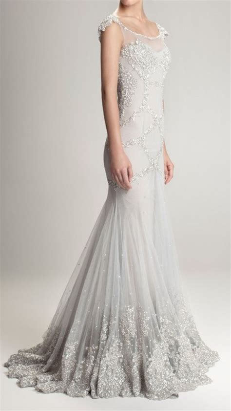 beading on the wedding dress to the right reminds me of indian 19 best images about silver winter wedding dress s 248 lv