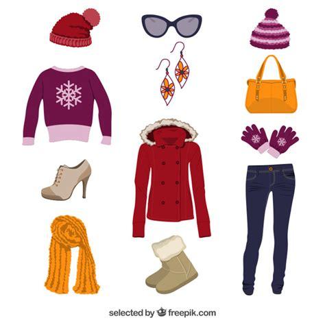imagenes de invierno caricatura ropa de invierno descargar vectores gratis