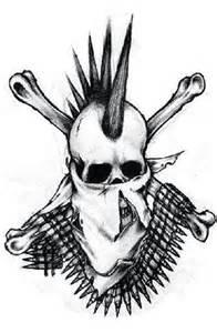 Punk skull tattoo tattoos body art designs for tattoos pinterest