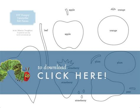 the hungry caterpillar template diy hungry caterpillar felt book free printable