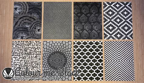 sims 2 rugs my sims 4 color me black modern rugs by peacemaker ic