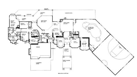 house plans with indoor basketball court house plan 86686