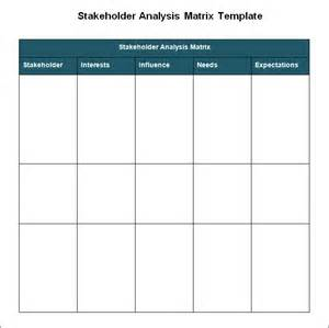 Stakeholders Map Template by Stakeholder Analysis Template 5 Free Word Excel Pdf