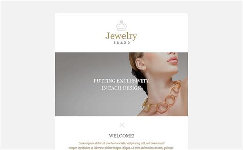 jewelry responsive newsletter template 52988