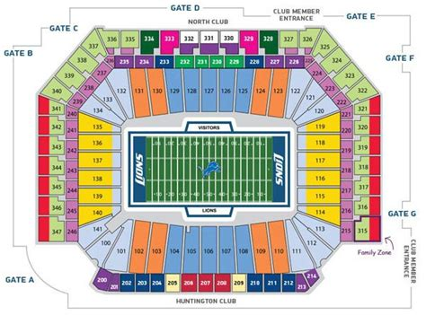ford field seating chart detroit lions in play magazine
