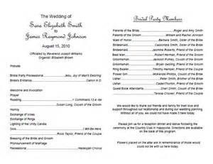 traditional wedding program template weddings