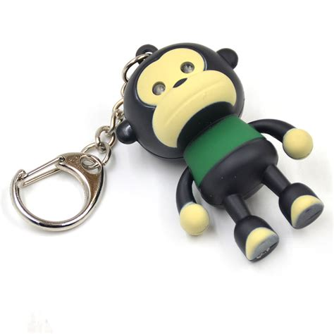 monkey lights for cars monkey key chain with led light sound effect