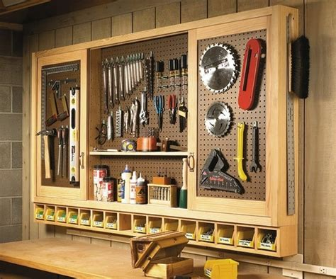 Pegboard Cabinet Doors by Sliding Door Pegboard Cabinet Wood Crafts