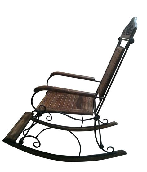 wrought iron rocking bench komforts wood and wrought iron collection rocking chair