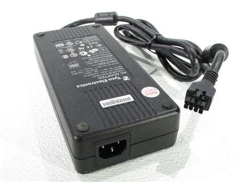 Adaptor 12v 20a tyco electronics cad240121 ac power adapter 12v 20a for elo all in one monitor premier