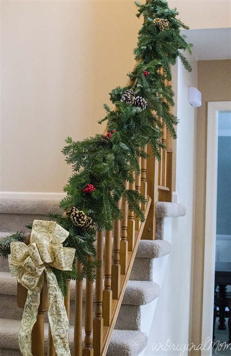 garland for stair banister make your own garland for less than 5 unoriginal mom