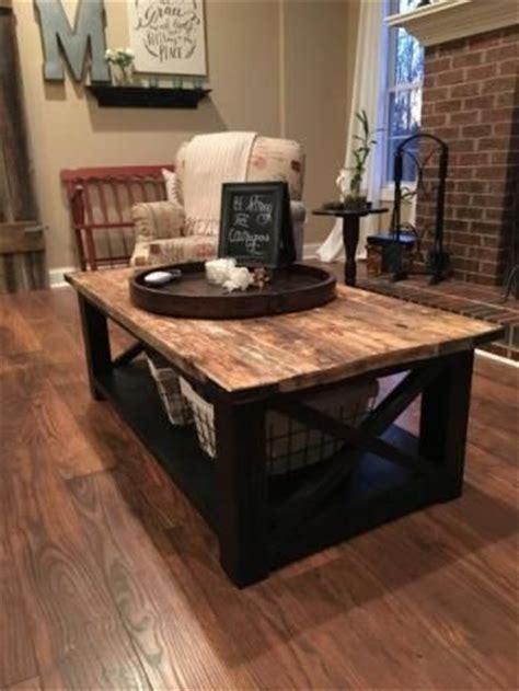 farmhouse coffee table decor rustic coffee table free plans living room tutorials