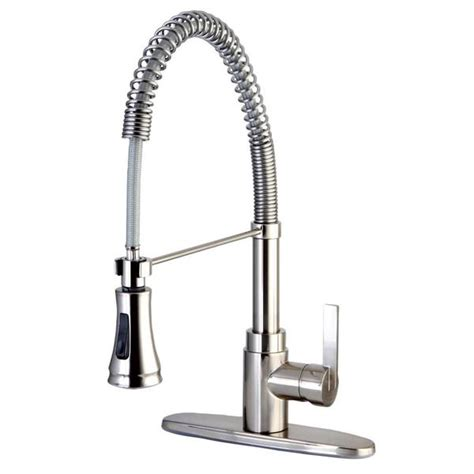 pre rinse kitchen faucets kingston brass satin nickel single handle pre rinse