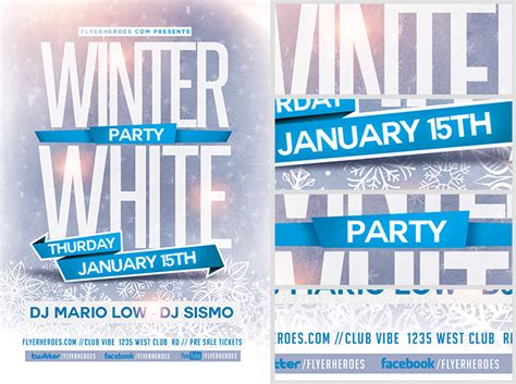 winter flyer template winter white flyer template flyerheroes