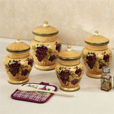 wine kitchen canisters 12 best images about grape kitchen decor on pinterest