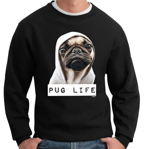 pug neck size pug crew neck sweatshirt