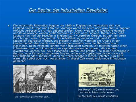 wann begann die industrielle revolution in deutschland ppt der beginn der industriellen revolution industrielle