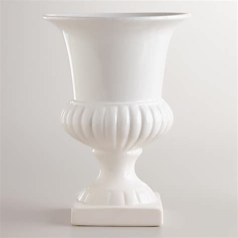 white ceramic urn medium white urn vase world market