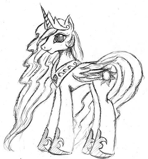 Princess Celestia By Malamol On Deviantart Princess Drawing Sheets