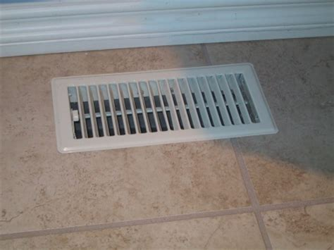 bathroom floor tiling project floor vent