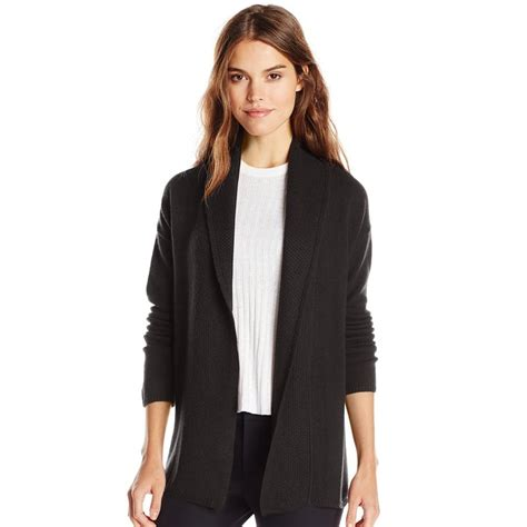 Superior Womens Christmas Turtlenecks #3: Sofia-cashmere-black-casrdigan-sweater.jpg