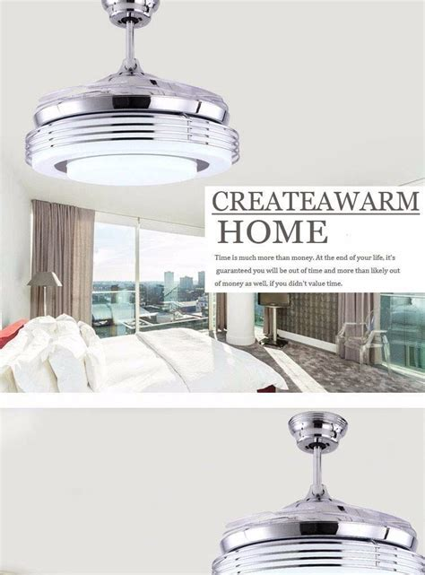 chrome ceiling fan with remote chrome shade modern ceiling fan lights 4 leaf fan with