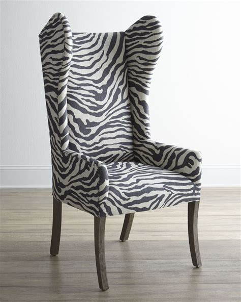 Zebra Print Chairs by Zebra Print Wingback Chair