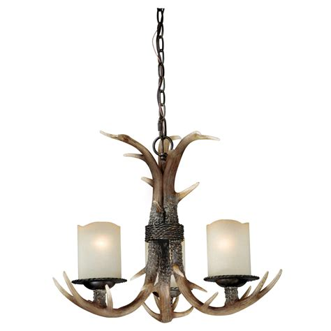 Cast Antler Chandelier 3 Light Chandelier Lights