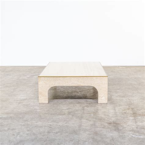 travertine coffee table 70s willy rizzo bronze and travertine coffeetable barbmama