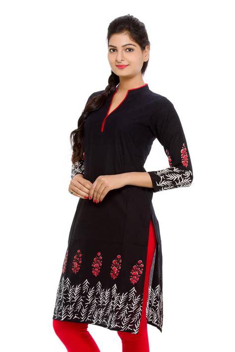 Sleeve Kurta Leather buy kurta with printed daman and sleeves