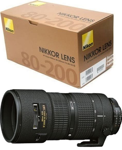 nikon 80 200mm af zoom nikkor f2 8 ed lens 163 829 uk