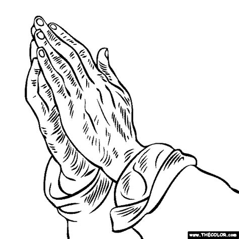 coloring pages praying hands coloring home