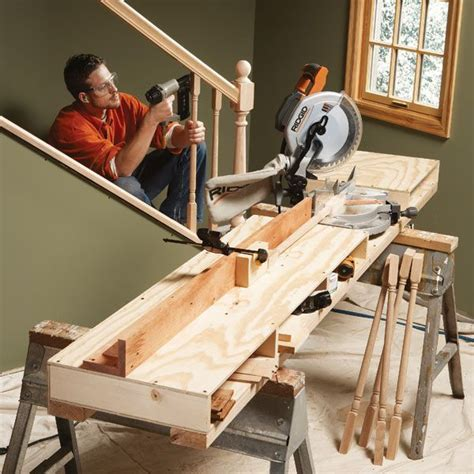 mitre bench saw how to build a miter saw table