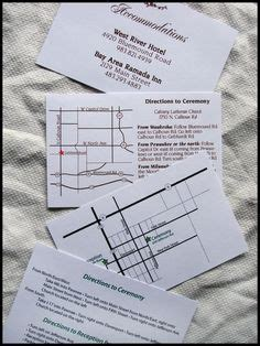 Wedding Reception Direction Cards Template by 1000 Ideas About Accommodations Card On