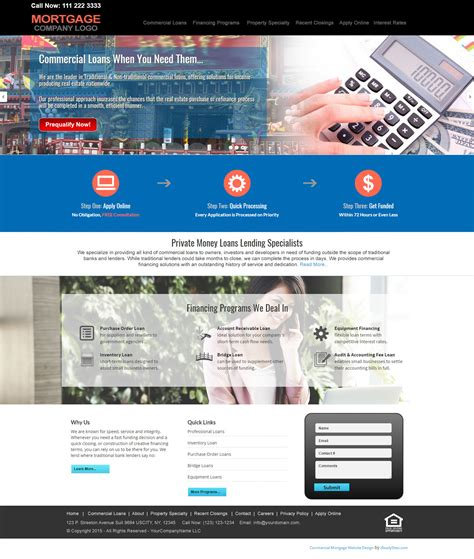 Commercial Mortgage Website Templates Mortgage Web Template