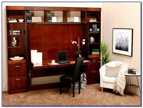 murphy bed with desk attached bedroom home decorating