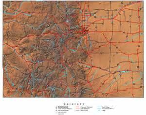 colorado state map free colorado map maps of colorado state