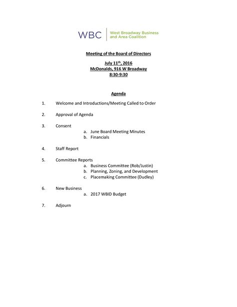 sample meeting minute templates formal word templates