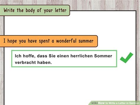 Closing Informal Letter German 3 Ways To Write A Letter In German Wikihow
