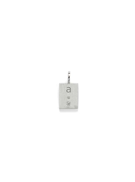Lu Pendant anni lu in character silver a 197 initial pendant cristels