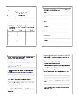 The Ransom Of Chief Worksheet Answers by The Ransom Of Chief By O Henry Lesson Plan