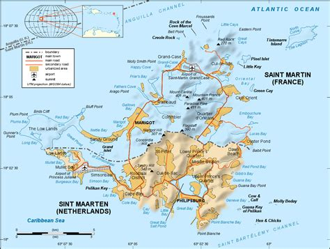 map st island caribbean maarten map st
