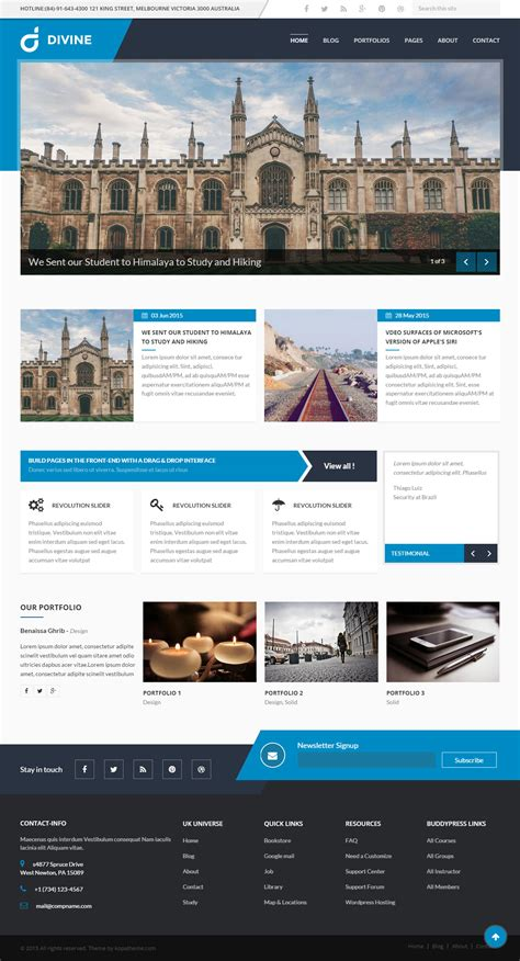 drupal themes best responsive 5 best responsive drupal education theme 2017