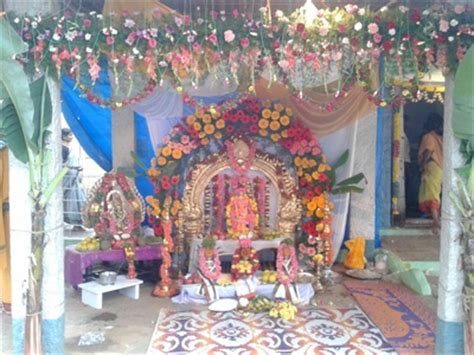 Decoration Of Temple In Home Ganesh Chaturthi Home Decorations Decorating Ideas Images Themes