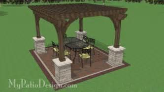 12 X 14 Pergola by 12x14 Cedar Pergola Design With Columns Downloadable