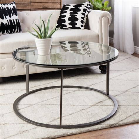 overstock glass coffee table glass top metal coffee table free shipping today