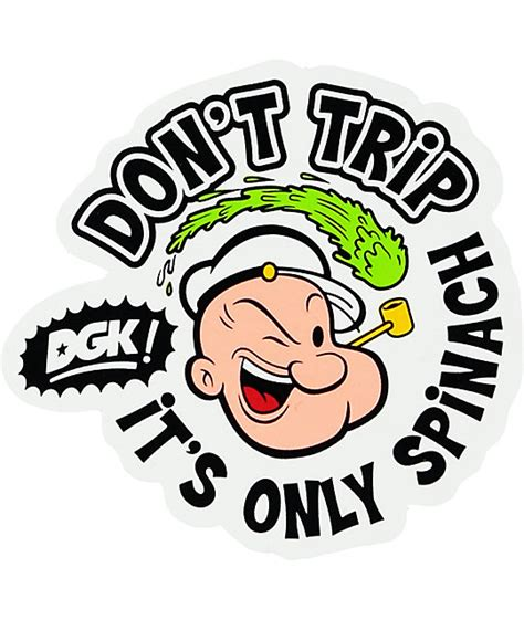 Does Popeyes Have Gift Cards - dgk x popeye dont trip sticker at zumiez pdp