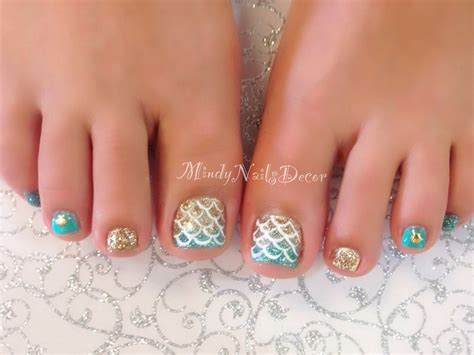 pedicure nail mermaid pedicure nails pedicures