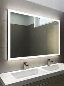 Double Wide Bathroom Mirror halo wide led light bathroom mirror 842h illuminated